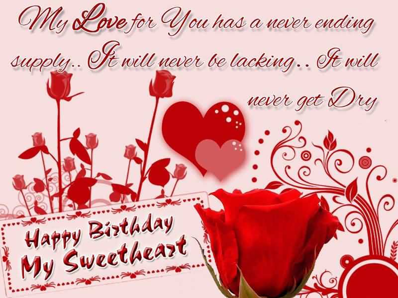 My Love For You Fiance Birthday Wishes