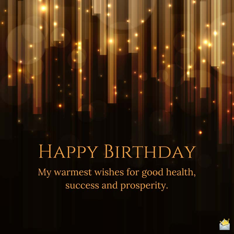 My Warmest Wishes Of Good Boss Birthday Wishes
