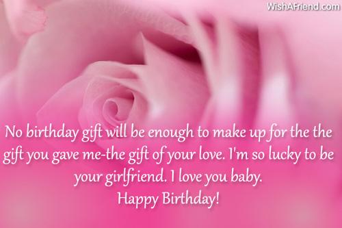 No Birthday Gift Will Be Boyfriend Birthday Wishes