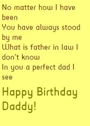 No Matter How I Father In Law Birthday Wishes