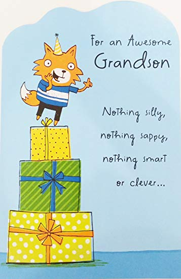 Nothing Silly Nothing Sappy Grandson Birthday Wishes