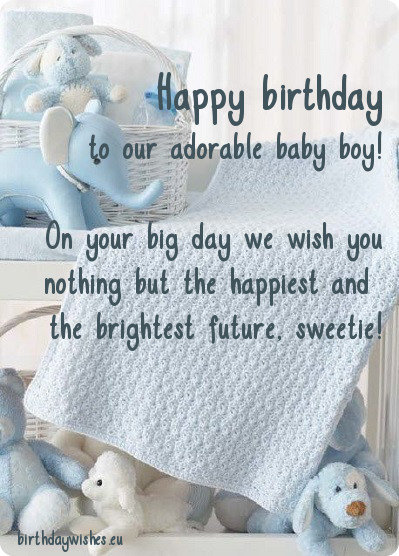 On Your Big Day Baby Boy Birthday Wishes