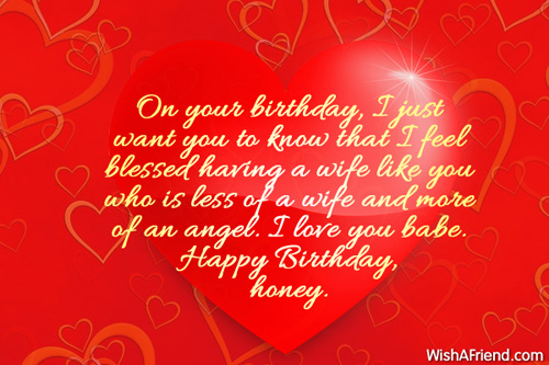 On Your Birthday I Just Wife Birthday Wishes