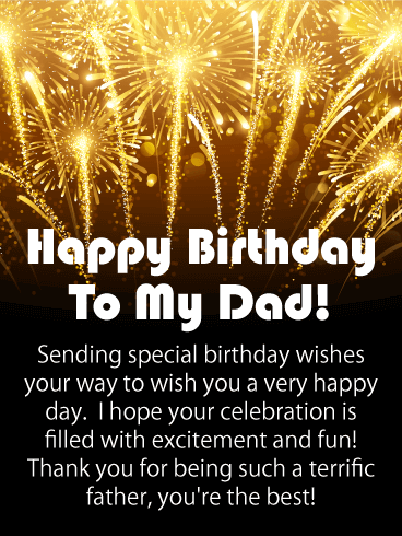 Sending Special Birthday Wishes Dad Birthday Wishes
