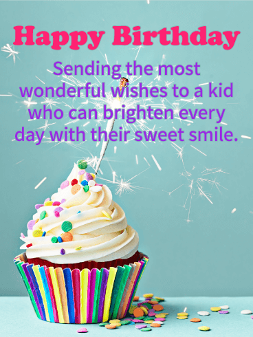 Sending The Most Wonderful Kids Birthday Wishes