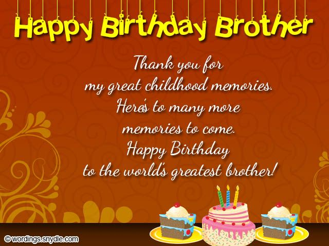 Thank You For Great Brother Birthday Wishes