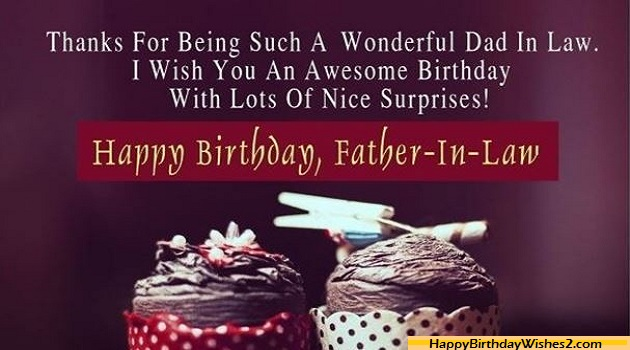 Thanks For Being Such Father In Law Birthday Wishes