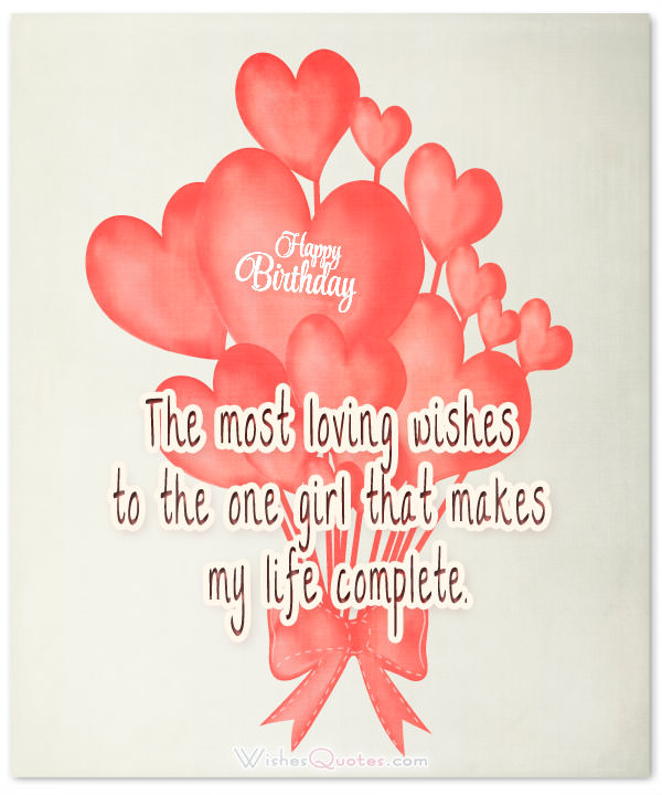 The Most Loving Wishes Girlfriend Birthday Wishes