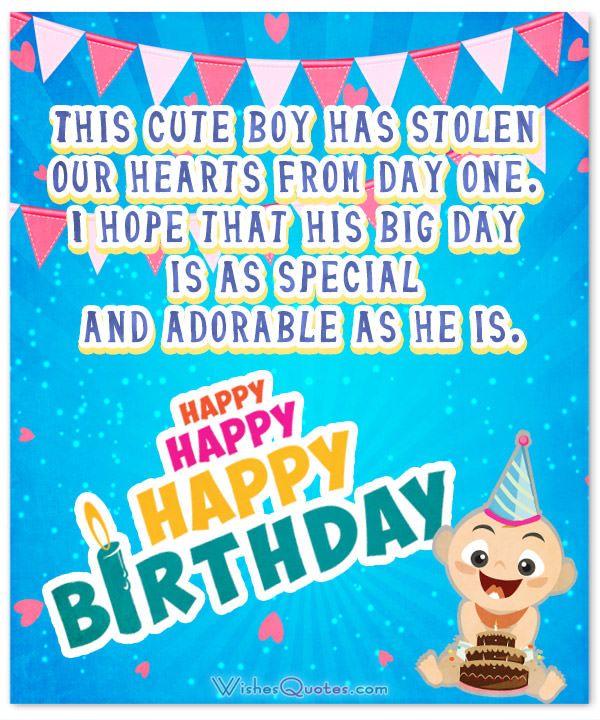 This Cute Boy Has Baby Boy Birthday Wishes