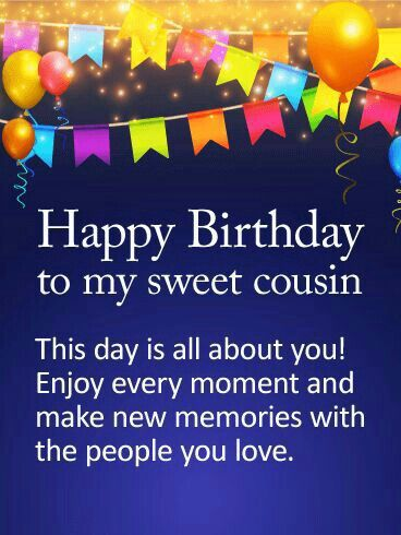 This Day Is All Cousin Birthday Wishes