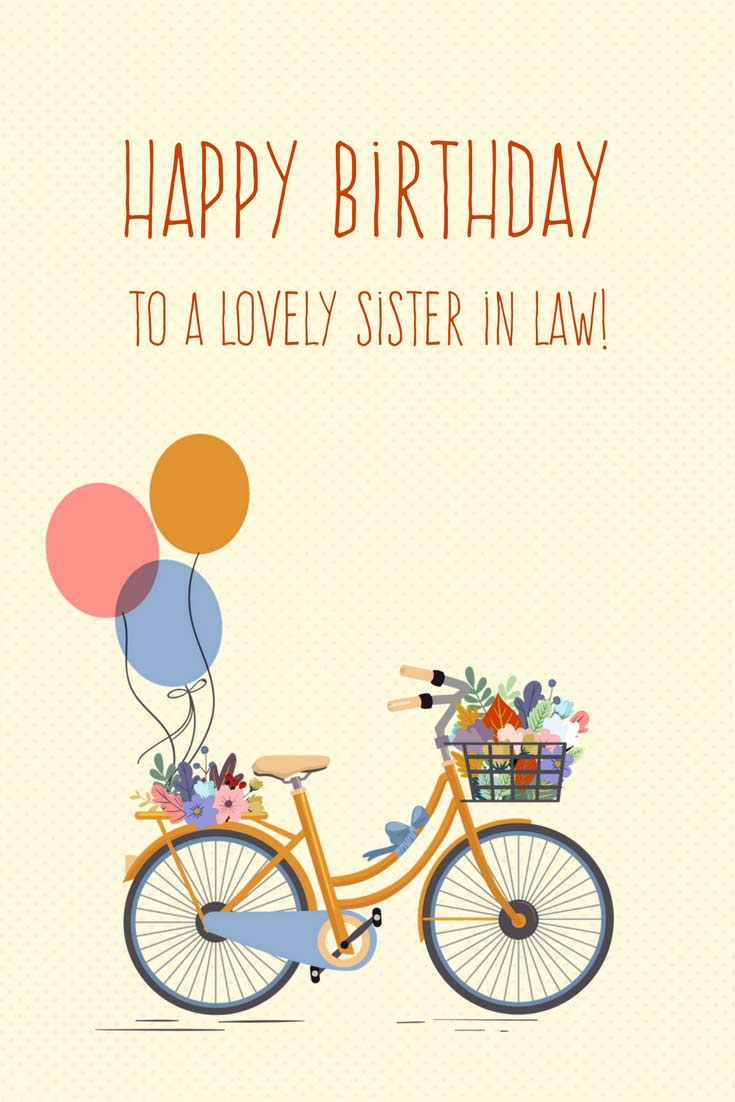 To A Lovely Sister Sister In Law Birthday Wishes
