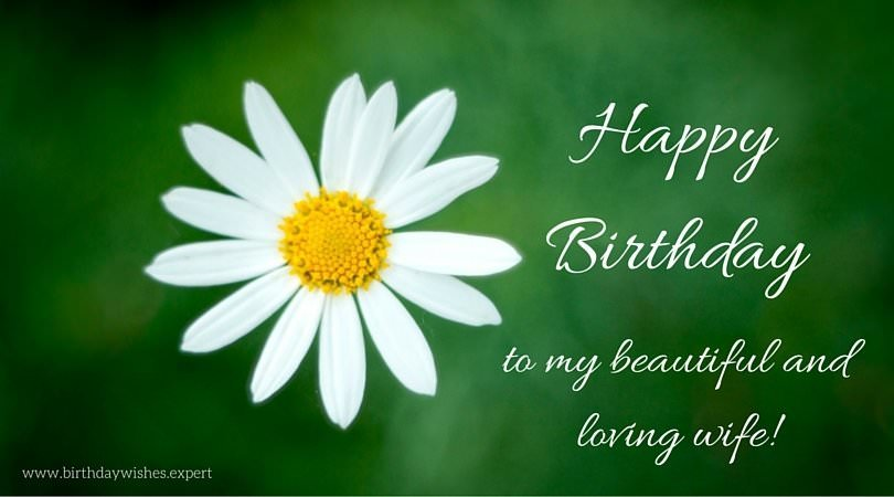 To My Beautiful And Loving Wife Birthday Wishes