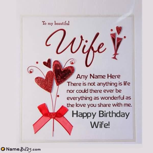 To My Beautiful Wife Wife Birthday Wishes