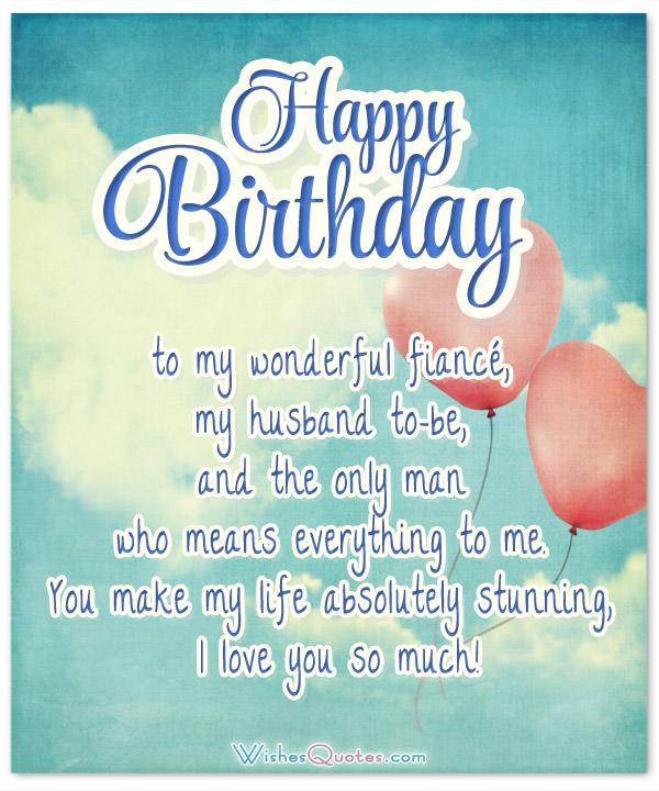To My Wonderful Fiance Fiance Birthday Wishes