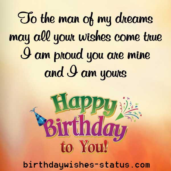 To The Man Of Fiance Birthday Wishes