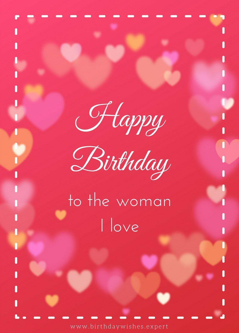 To The Woman I Love Wife Birthday Wishes