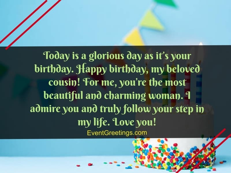 Today Is A Glorious Cousin Birthday Wishes