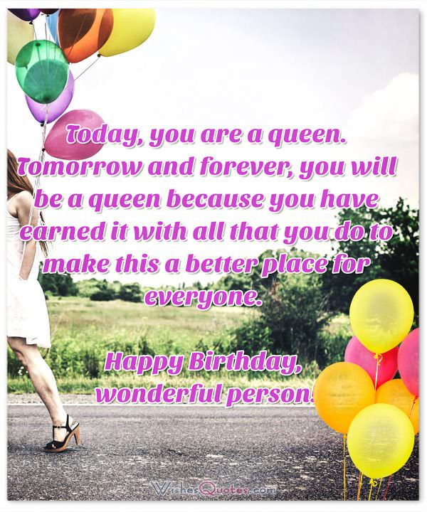 Today You Are  A Queen Someone Special Birthday Wishes