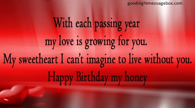 Wish Each Passing Year Girlfriend Birthday Wishes
