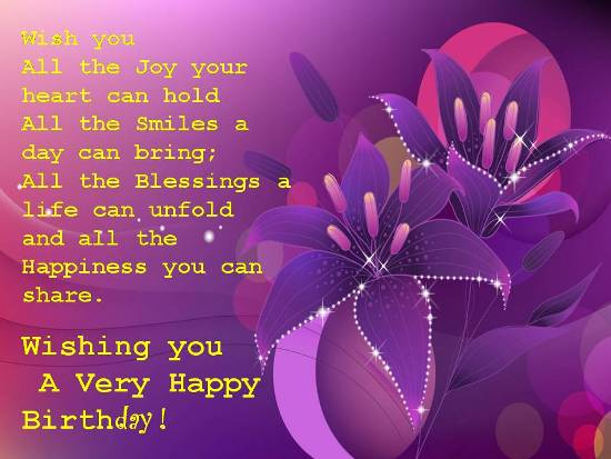 Wish You All The Joy Someone Special Birthday Wishes