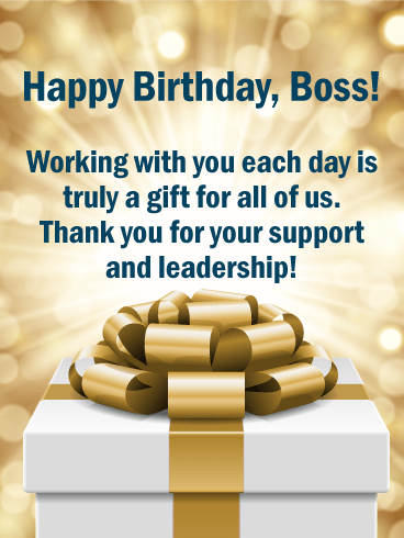 Working With You Each Boss Birthday Wishes