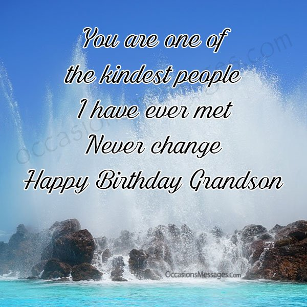 You Are One Of Grandson Birthday Wishes