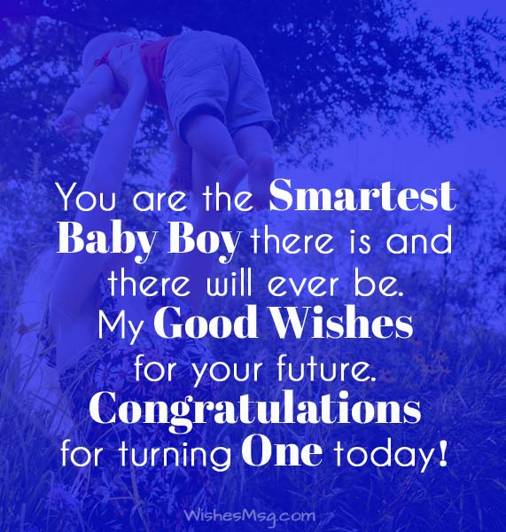 You Are The Smartest Baby Boy Birthday Wishes