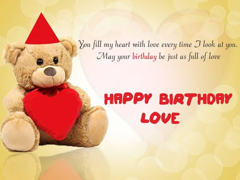 You Fill My Heart Fiance Birthday Wishes