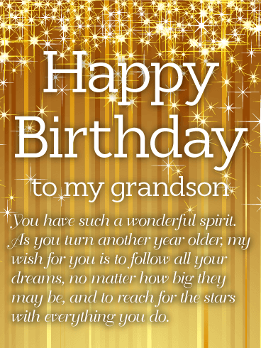 You Have Such A Wonderful Grandson Birthday Wishes