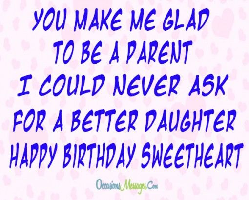 You Make Me Glad To Parents Birthday Wishes