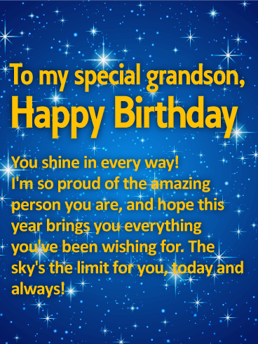 You Shine In Every Grandson Birthday Wishes
