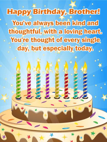 You've Always Been Kind Brother Birthday Wishes