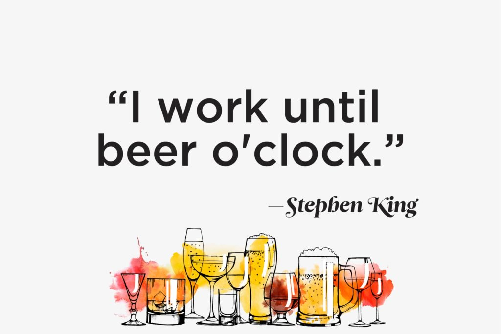 I Work Until Beer Alcohol Quotes