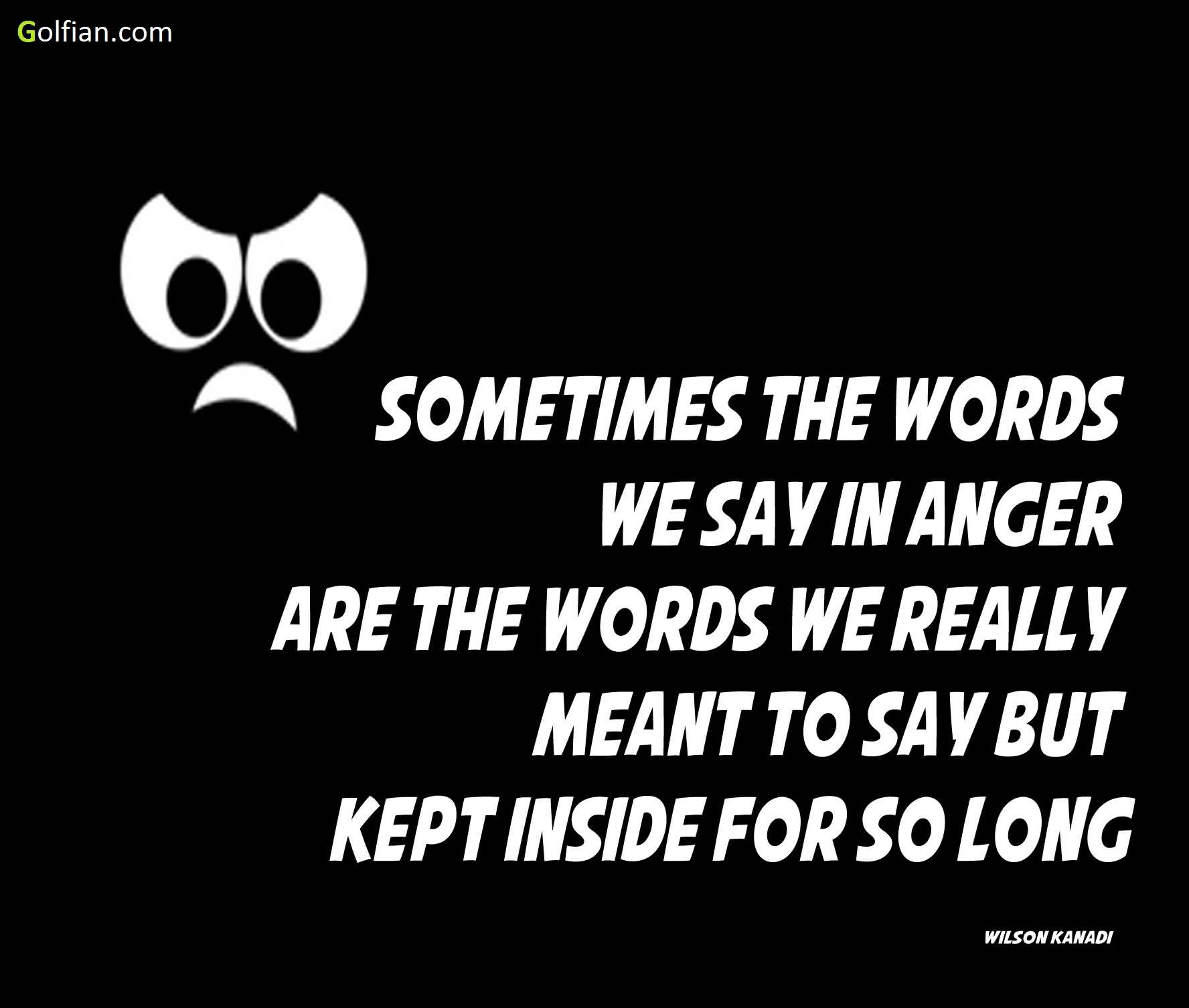 Sometimes The Words We Anger Quotes