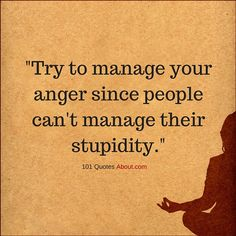 Try To Manage Your Anger Quotes