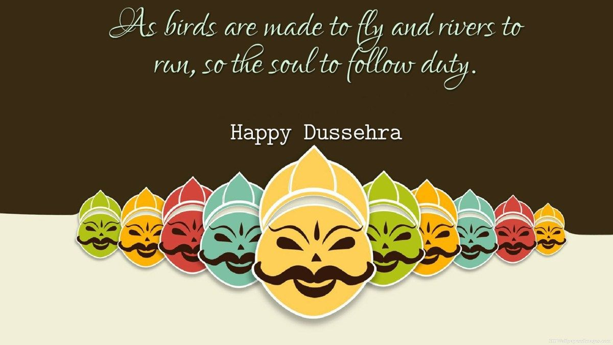 As birds are made Happy Dussehra