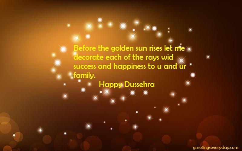 Before the golden Happy Dussehra