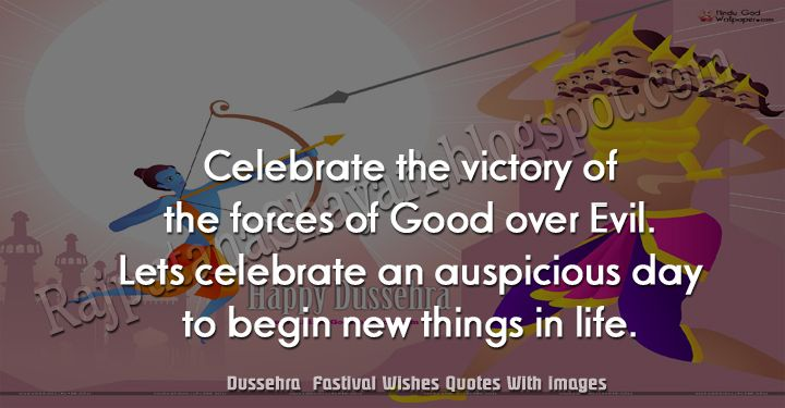 Celebrate the victory Happy Dussehra