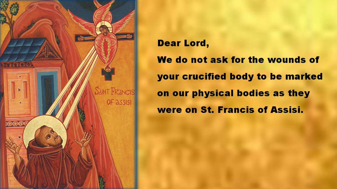 Dear lord Feast of St Francis of Assisi