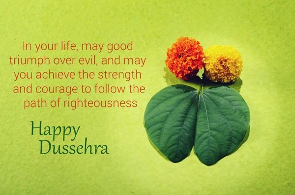 In your life Happy Dussehra