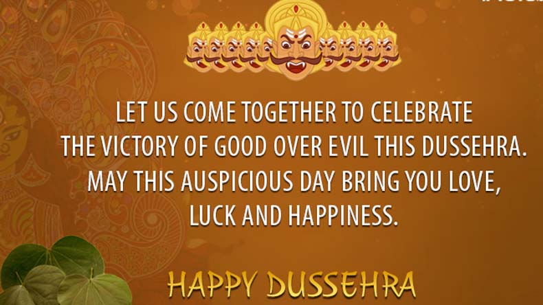 Let us come together Happy Dussehra