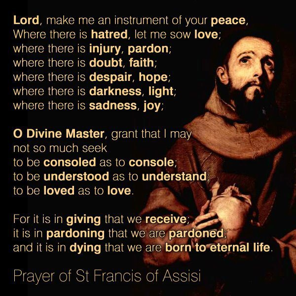 Prayers of Feast of St Francis of Assisi