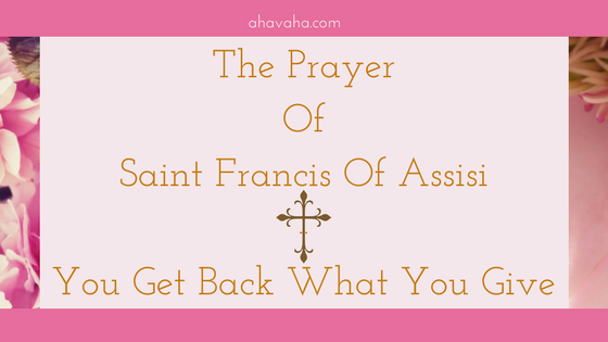 The prayer of Feast of St Francis of Assisi
