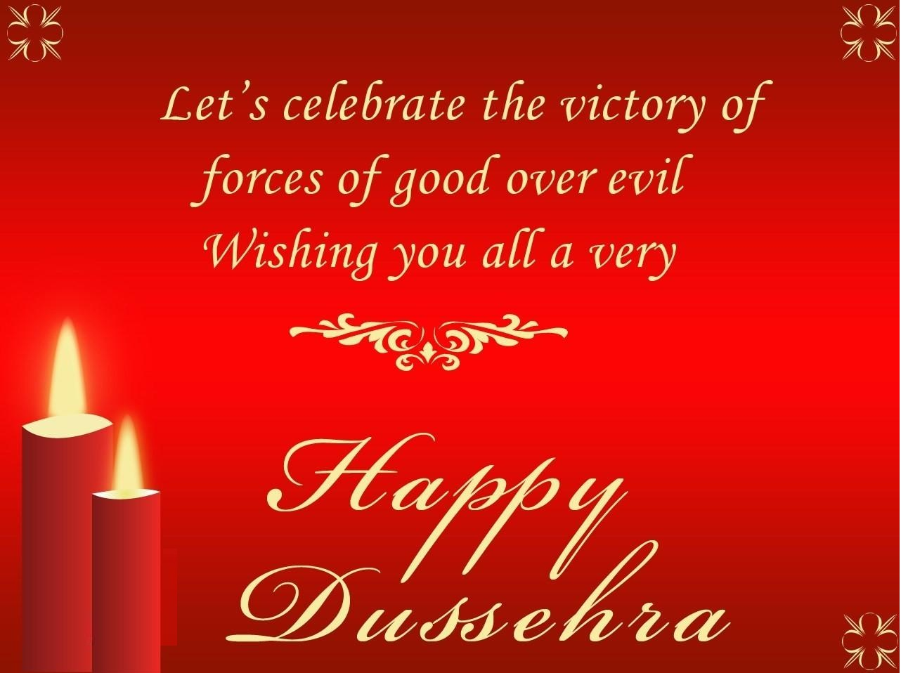 Victory of forces Happy Dussehra
