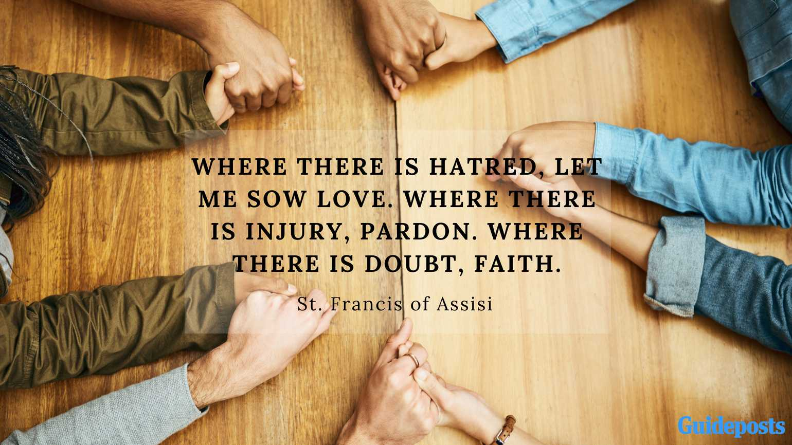Where there is hatred Feast of St Francis of Assisi