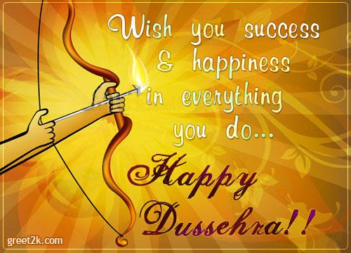 Wish you success Happy Dussehra