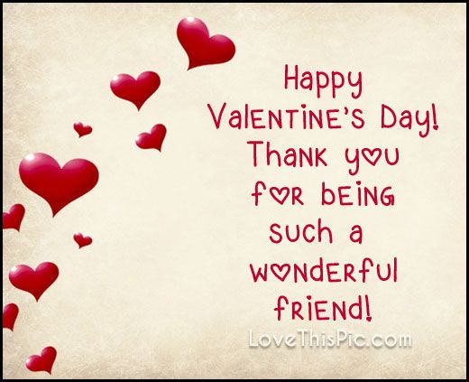 For Being Such A Wonderful Friends Valentines