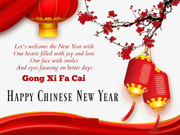 Happy Chinese New Year Blessing Image