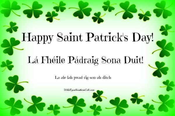 Happy Saint Patricks Day Sona Duit Day