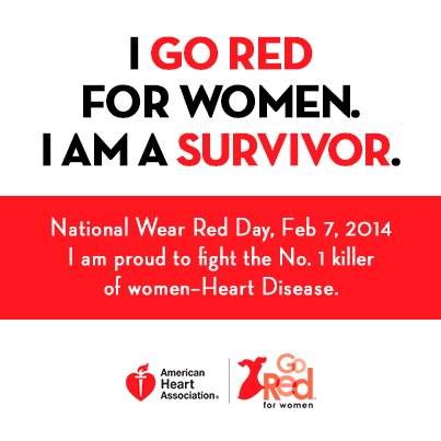 I Go Red For Woman Survivor